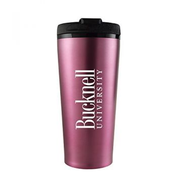 Bucknell University -16 oz. Travel Mug Tumbler-Pink