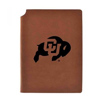 University of Colorado Velour Journal with Pen Holder|Carbon Etched|Officially Licensed Collegiate Journal|