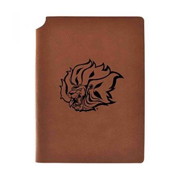 University of Arkansas at Pine Buff Velour Journal with Pen Holder|Carbon Etched|Officially Licensed Collegiate Journal|