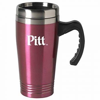University of Pittsburgh-16 oz. Stainless Steel Mug-Pink