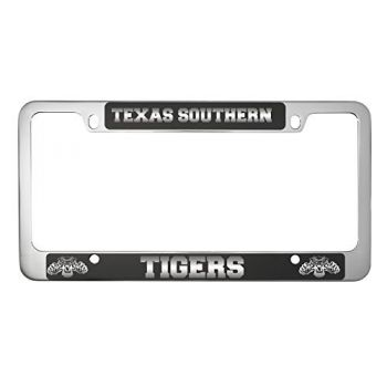 Texas Southern University -Metal License Plate Frame-Black