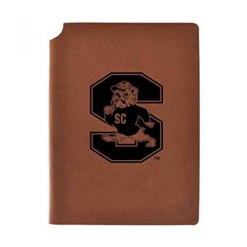 South Carolina State University Velour Journal with Pen Holder|Carbon Etched|Officially Licensed Collegiate Journal|