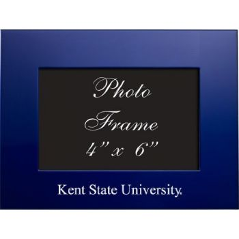 Kent State University - 4x6 Brushed Metal Picture Frame - Blue