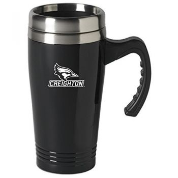 Creighton University-16 oz. Stainless Steel Mug-Black