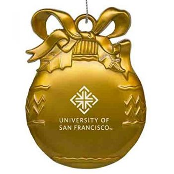 University of San Francisco - Pewter Christmas Tree Ornament - Gold