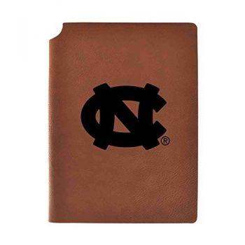 University of North Carolina Velour Journal with Pen Holder|Carbon Etched|Officially Licensed Collegiate Journal|