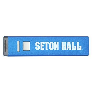 Seton Hall University - Portable Cell Phone 2600 mAh Power Bank Charger - Blue