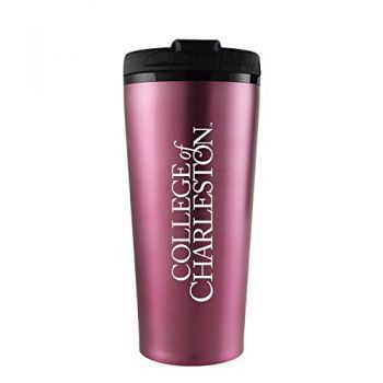 College of Charleston-16 oz. Travel Mug Tumbler-Pink