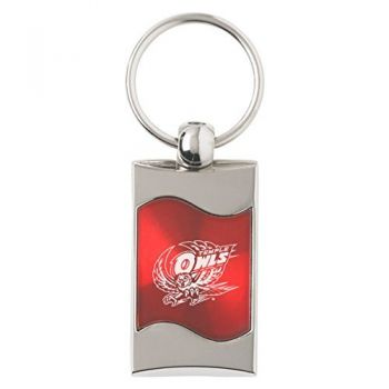 Temple University - Wave Key Tag - Red