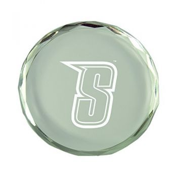 Siena College-Crystal Paper Weight