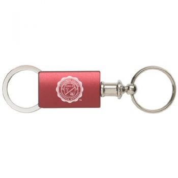 Colgate University - Anodized Aluminum Valet Key Tag - Burgundy