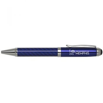 University of Memphis-Carbon Fiber Ballpoint Pen-Blue