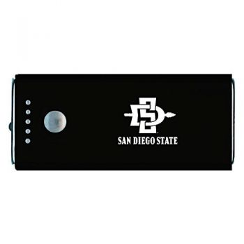 San Diego State University -Portable Cell Phone 5200 mAh Power Bank Charger -Black