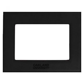 Oakland University-Velour Picture Frame 4x6-Black