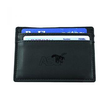 Alabama State University-European Money Clip Wallet-Black