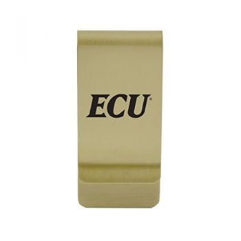 Duquesne University|Money Clip with Contemporary Metals Finish|Solid Brass|High Tension Clip to Securely Hold Cash, Cards and ID's|Silver