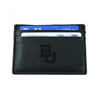 Baylor University-European Money Clip Wallet-Black