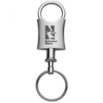 Northwestern University-Trillium Valet Key Tag-Silver