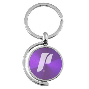 University of Portland - Spinner Key Tag - Purple