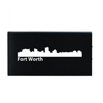 Quick Charge Portable Power Bank 8000 mAh - Fort Worth City Skyline