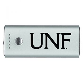University of North Florida-Portable Cell Phone 5200 mAh Power Bank Charger -Silver