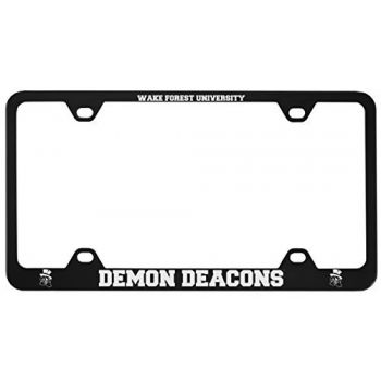 Wake Forest University -Metal License Plate Frame-Black