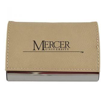 Velour Business Cardholder-Mercer University-Tan