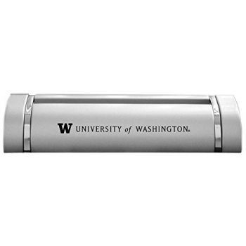 University of Washington-Desk Business Card Holder -Silver