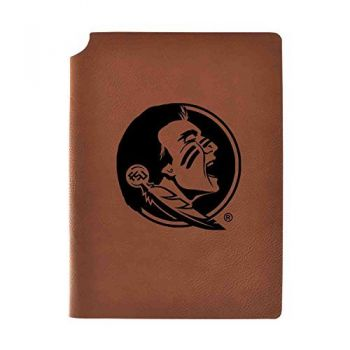 Florida State University Velour Journal with Pen Holder|Carbon Etched|Officially Licensed Collegiate Journal|