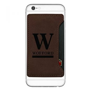 Wofford College-Cell Phone Card Holder-Brown