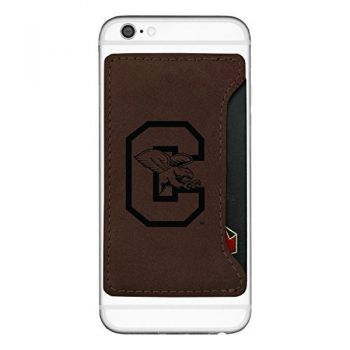 Canisus College-Cell Phone Card Holder-Brown