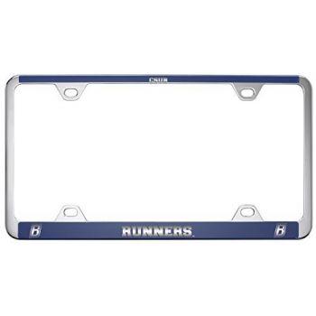 California State University, Bakersfield-Metal License Plate Frame-Blue