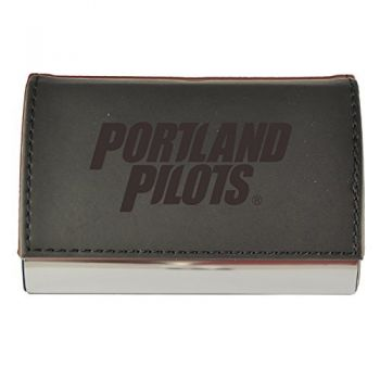 Velour Business Cardholder-The University of Portland-Black
