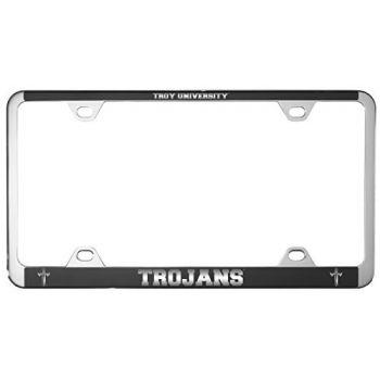 Troy University-Metal License Plate Frame-Black
