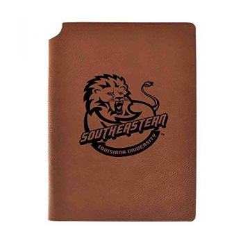 Southeastern Louisiana University Velour Journal with Pen Holder|Carbon Etched|Officially Licensed Collegiate Journal|