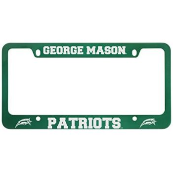 George Mason University -Metal License Plate Frame-Green