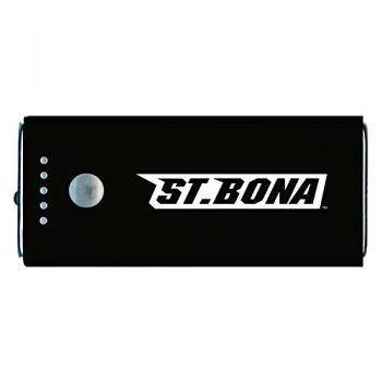 St. Bonaventure Bonnies -Portable Cell Phone 5200 mAh Power Bank Charger -Black