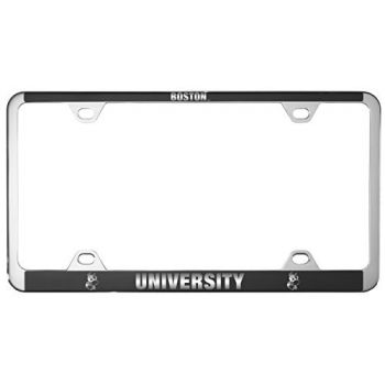 Boston University -Metal License Plate Frame-Black