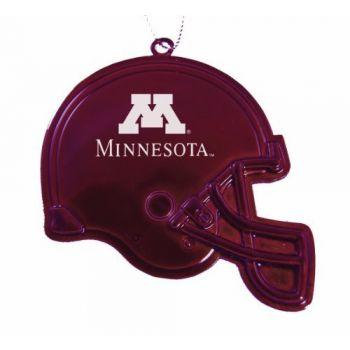 University of Minnesota - Christmas Holiday Football Helmet Ornament - Burgundy