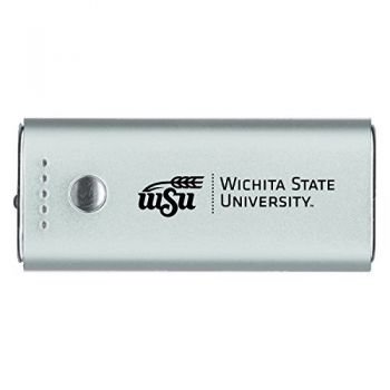 Wichita State University -Portable Cell Phone 5200 mAh Power Bank Charger -Silver