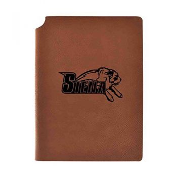 Siena College Velour Journal with Pen Holder|Carbon Etched|Officially Licensed Collegiate Journal|