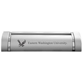Eastern Washington University-Desk Business Card Holder -Silver