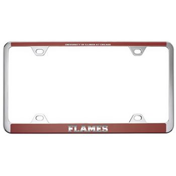 University of Illinois at Chicago-Metal License Plate Frame-Red