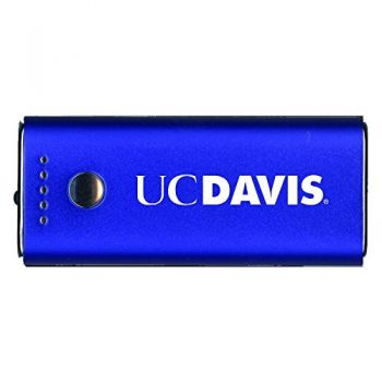 University of California, Davis -Portable Cell Phone 5200 mAh Power Bank Charger -Blue