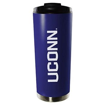 University of Connecticut-16oz. Stainless Steel Vacuum Insulated Travel Mug Tumbler-Blue