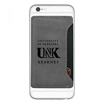 University of Nebraska at Kearney-Cell Phone Card Holder-Grey