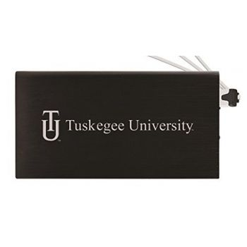 8000 mAh Portable Cell Phone Charger-Tuskegee University -Black