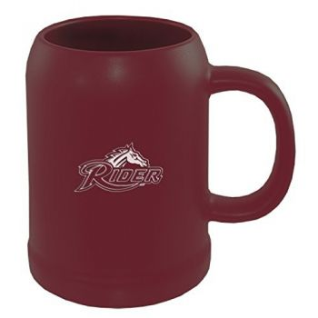 Rider University -22 oz. Ceramic Stein Coffee Mug-Burgundy