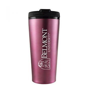 Belmont University-16 oz. Travel Mug Tumbler-Pink