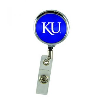 The University of Kansas-Retractable Badge Reel-Blue